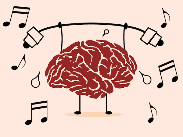 Picture Representing The Concept of Playing Instrument Boost The Brain Power.